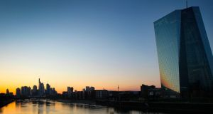 The European Central Bank said consolidation  'may boost the low profitability of euro area banks by helping them achieve economies of scale, become more cost-efficient and improve their capacity to face a future that is increasingly digital and definitely global'. Photograph: AFP