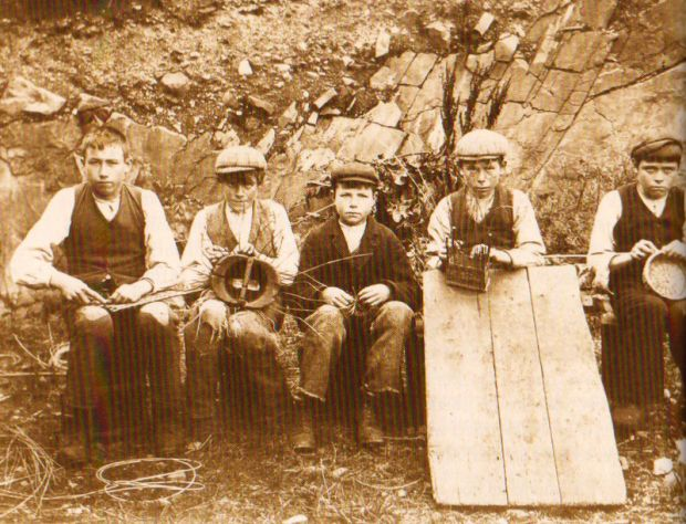 A group of young boy basket weavers from Sophia Sturge and the Connemara Basket Industry in Letterfrack, 1888-1905 by Joan Johnson.