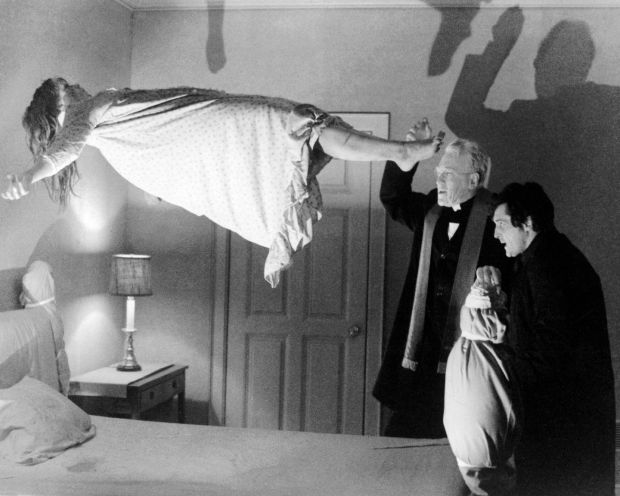 Linda Blair as Regan MacNeil, Max von Sydow as Father Merrin, and Jason Miller as Father Karras in The Exorcist, directed by William Friedkin. Photograph: Silver Screen Collection/Getty Images