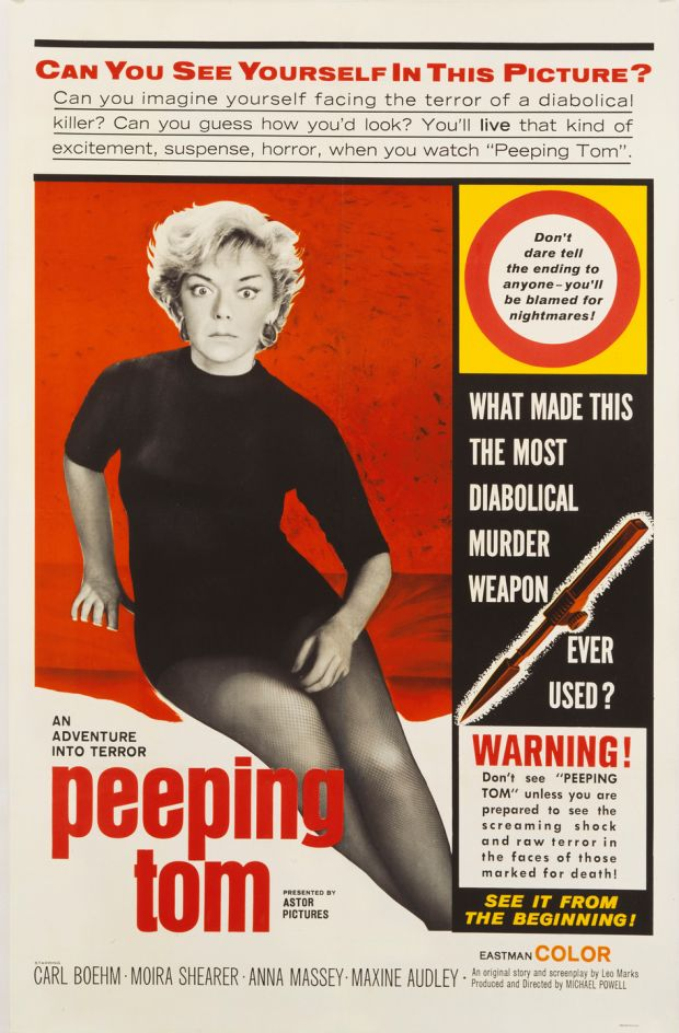 A poster for Michael Powell's 1960 Peeping Tom. Photograph: Movie Poster Image Art/Getty Images