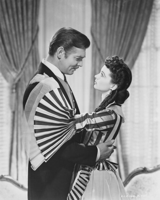 Clark Gable as Rhett Butler with co-star Vivien Leigh as Scarlett O'Hara in Gone With the Wind. Photograph: Clarence Sinclair Bull/John Kobal Foundation/Getty Images