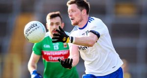 Conor McManus in action for Monaghan against Mayo in February's Allianz Football League Division 1 match  in Clones. Photograph: Tommy Dickson/Inpho