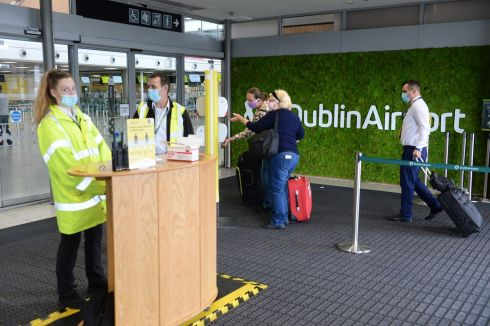 FLIGHT SAFETY: Passengers at Dublin Airport prepare to fly to various locations. Photograph: Dara Mac Dónaill/The Irish Times