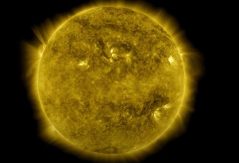 SUN SPOT: An image taken from a Nasa video depicting a 10-year time lapse of the sun. Photograph: Nasa handout/GSFC/AFP via Getty Images