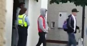 Footage online shows gardaí clearing up to 60 people from a house party in Waterford city on Saturday.
