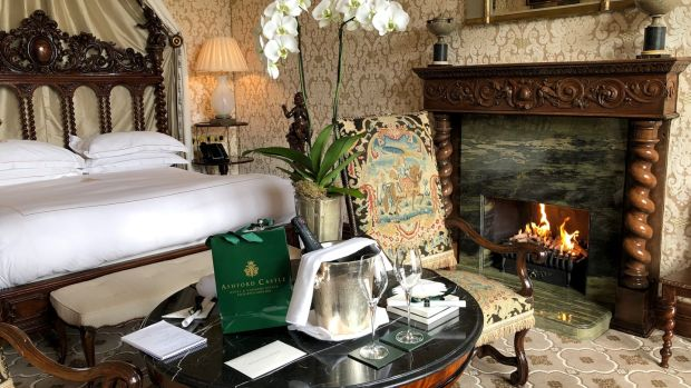 Service with a difference in the luxurious Ashford Castle.