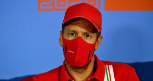 Sebastian Vettel is to leave Ferrari at the end of the season. Photograph: Mark Sutton/Getty/AFP