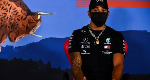 Lewis Hamilton has said winning this year's Formula One world championship would mean more due to the BLM movement. Photograph: Mark Sutton/AP