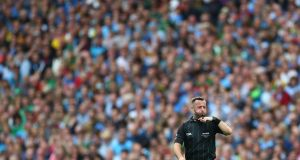 2019 All-Ireland final referee David Gough has said he does not wish to be considered for match appointments while social distancing is still in place. Photograph: James Crombie/Inpho