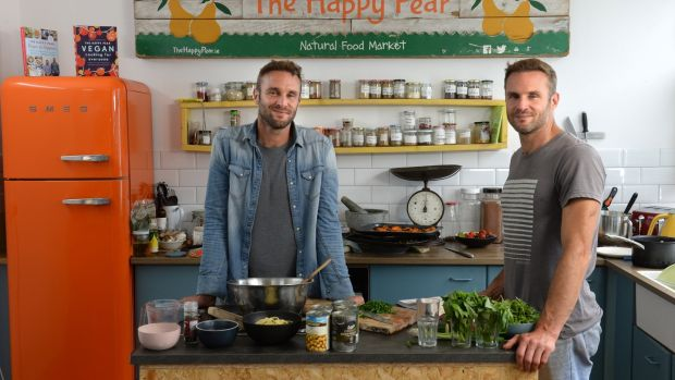 David and Stephen Flynn of the Happy Pear, in Kilcoole, Co Wicklow. Photograph: Dara Mac Dónaill