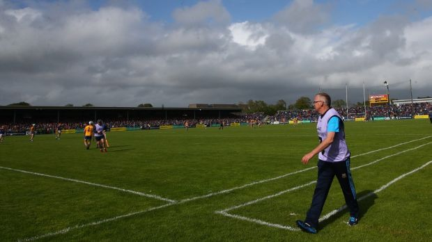 Eamon O'Shea on the sidelines of the Munster round-robin game between Tipperary and Clare at Cusack Park in June 2019. Photograph: James Crombie/Inpho