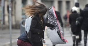 Very windy weather is forecast for parts of the north and west this weekend. File photograph: Alan Betson/The Irish Times