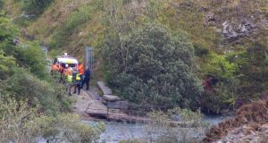 The quarry in Portroe, Co Tipperary, where two bodies were discovered on Sunday. Photograph: Press 22