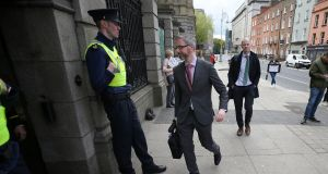 Minister for Children Roderic O'Gorman arrives  at Leinster House. Photograph Nick Bradshaw