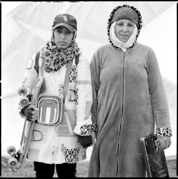 """Yusra (31) and her mother Yamila (54) live in Nador, Morocco. They have worked as porters for about three years but stopped working in March. """"How much longer will the border stay shut?"""" they asked. """"We need to eat. Our government is doing nothing for us."""""""
