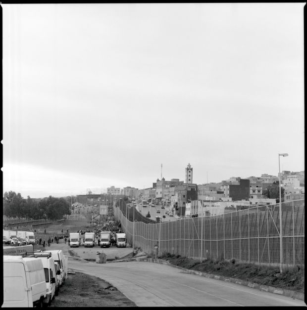 A view of the Barrio Chino border crossing.