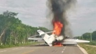 Suspected drug plane found ablaze on Mexican motorway
