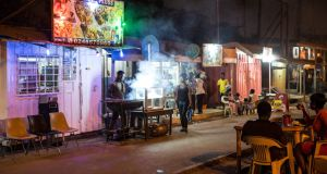 A roadside bar in Accra, Ghana. Photograph: Getty Images
