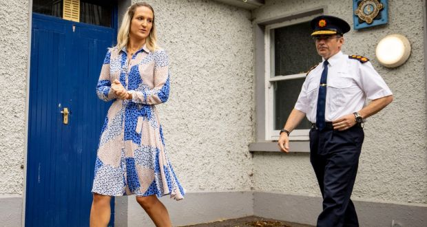 Minister for Justice Helen McEntee and                         Garda Commissioner Drew Harris: Encrochat                         devices are popular among several Irish                         organised crime and dissident republican groups.                         Photograph: Tom Honan
