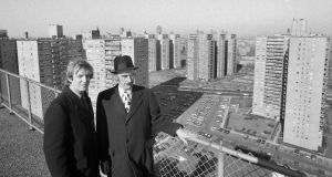 Donald Trump and his father, Fred Trump snr, overlooking some of their properties in Brooklyn in 1973. Photograph: Barton Silverman/New York Times