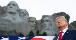 US president Donald Trump arrives for the Independence Day events at Mount Rushmore National Memorial in Keystone, South Dakota, on Friday July 3rd. Photograph: Saul Loeb/AFP via Getty Images