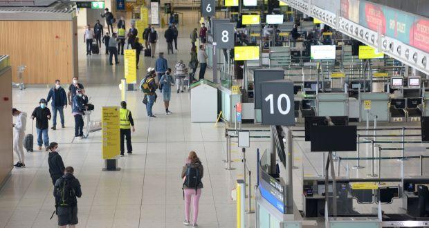 Dublini repülőtér: A Nagy-Britannia és Írország közötti nyitott utazási terület azt jelenti, hogy a kormány csak akkor csatlakozhat az EU határigazgatási megállapodásainak, ha a brit kormány ezt megteszi. Fénykép: Dara Mac Donaill