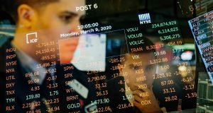 Wall Street's major indexes edged higher in choppy trading on Wednesday. Photograph: Mark Abramson/New York Times