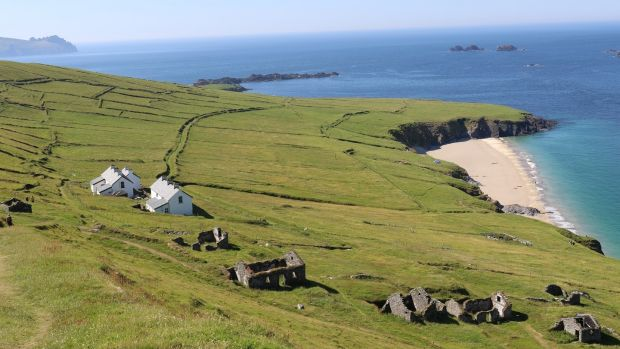 The Great Blasket Island cafe and accommodation.
