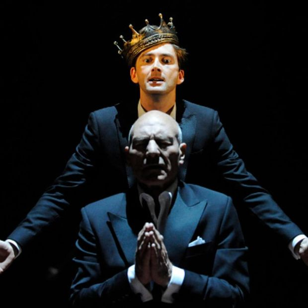 David Tennant watched Patrick Stewart on television growing up, in 2008 he was Hamlet and Stewart was Claudius in a RSC production. File photograph: Getty Images