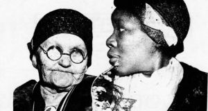 Mary Mooney and Viola Montgomery, mother of Olen, one of the Scottsboro Boys, photographed together in April 1932. Credit: Labour Defender.