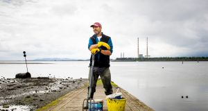 John O'Toole from Kilcoole in Co Wicklow collects ragworms in Dublin Bay. Photograph: Tom Honan