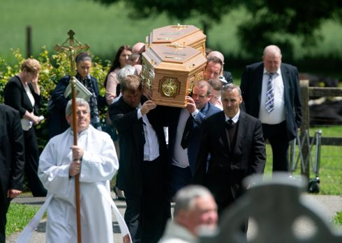 The funeral of brothers Fergus and Philip Brophy, who died in a scuba diving accident in Tipperery, at St John's Church, Killenard, Co Laois. Photograph: Colin Keegan/Collins Dublin