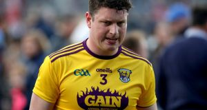 Liam Ryan: looks set to miss out on the Wexford county hurling championship due to a stress fracture in his foot. Photograph: Bryan Keane