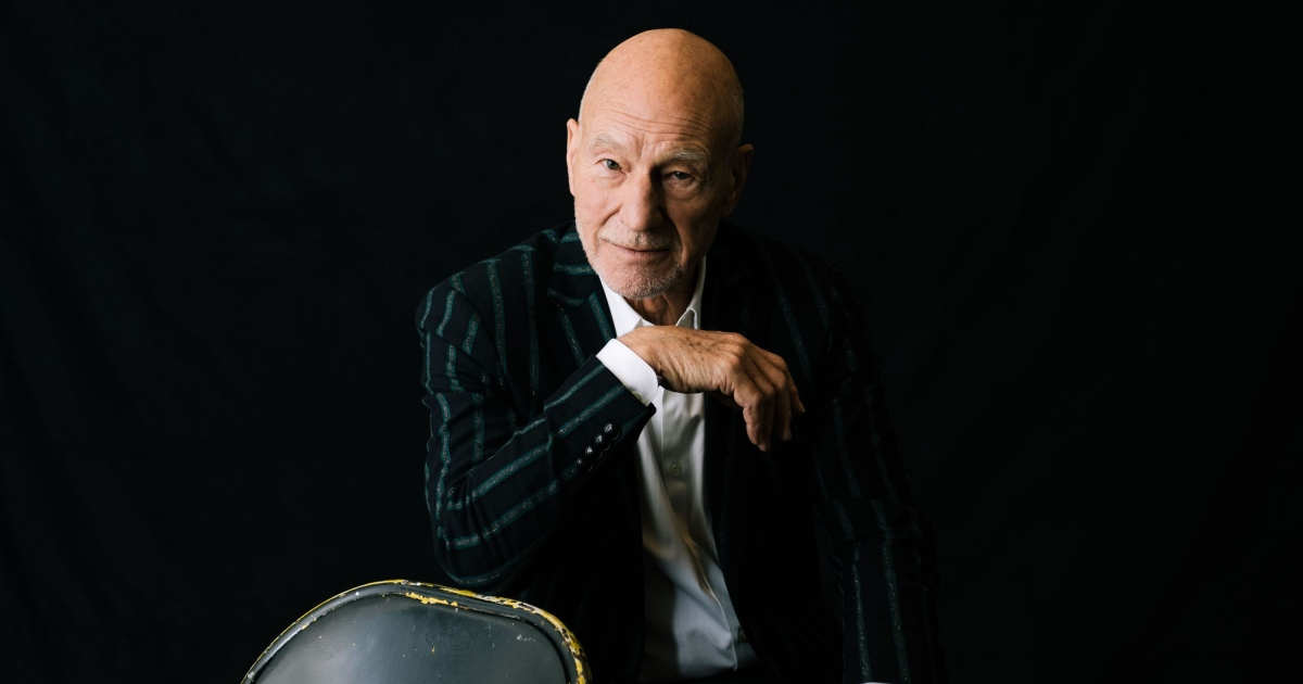 Patrick Stewart: the actor turns 800 today. Photograph: Mark Sommerfeld/New York Times