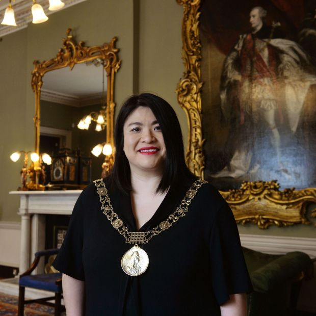 Mansion House: Hazel Chu, the Lord Mayor of Dublin. Photograph: Alan Betson