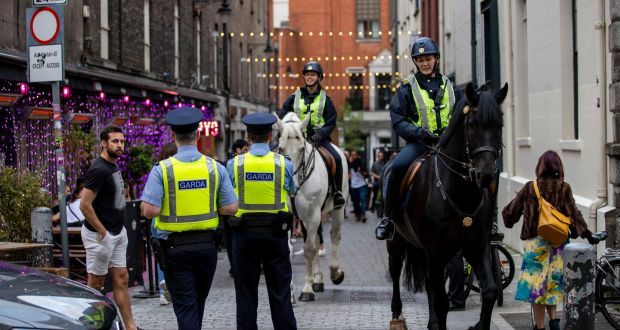 Gardaí outside Pygmalion Bar on Coppinger Row,Dublin. Photograph: Tom Honan/The Irish Times