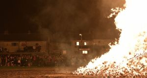 Bonfires lit in loyalist areas of North despite Covid-19 restrictions