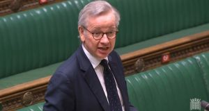 "UK cabinet office minister Michael Gove said the major investment would ensure traders and the border industry are able to ""manage the changes and seize the opportunities"" when the transition period ends in December. Photograph: PA Wire"