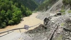 Eyewitness footage captures road collapse due to floods in China