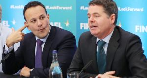 Taoiseach Leo Varadkar, left, and Minister for Finance Paschal Donohoe. Photograph: Niall Carson/PA Wire