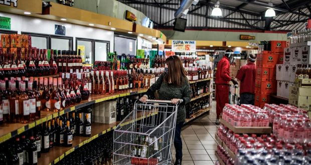 A customer shops at a Liquor City shop in Johannesburg, South Africa, in early June. File photograph: Marco Longari/AFP via Getty Images