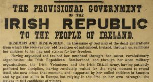 1916 Proclamation of the Irish Republic. An original example with an eyewitness inscription. Whyte's, €100,000-€150,000.