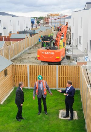 HOME TURF: Minister for Housing Darragh O'Brien at an event marking the completion of phase two of the Cranogue Islands affordable housing scheme in Dublin. Photograph: Gareth Chaney/Collins