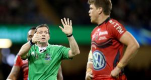 Alain Rolland took charge of the 2014 Heineken Cup Final between Toulon and Saracens. Photograph: Dan Sheridan/Inpho