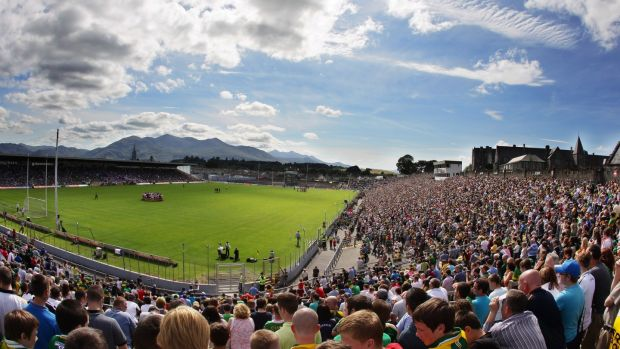 General view of Fitzgerald Stadium, Killarney before kick-off in the GAA Football All-Ireland Senior Championship Round 3 game between Kerry and Tyrone on July 21st, 2012. Photograph: Cathal Noonan/Inpho