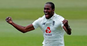 "England bowler Jofra Archer has been ruled out of the second Test against the West Indies and sent into self-isolation for breaking ""bio-secure protocols"" aimed at stopping coronavirus infections. File photograph: Getty Images"