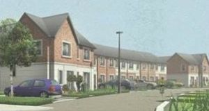 A computer generated image of the Tandy's Lane development in Lucan.