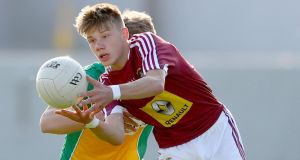 Jack Torpey is one of a number of Westmeath under-20 players on the St Joseph's, Rochfortbridge team that will contest the Leinster 'A' final against Naas CBS. Photograph: James Crombie/Inpho