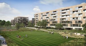 CGI of the proposed development on the former St Paul's playing pitches beside St Anne's Park in Dublin