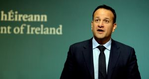 "Tánaiste Leo Varadkar said work was ongoing to ensure ""smooth return to regular repayments"". Photograph: Cyril Byrne"